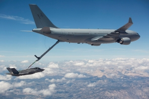 First RAAF F-35 refuel from a RAAF KC-30