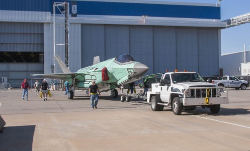 Move of AU-1 (Australia) from assembly line to AFF - JSF14-537