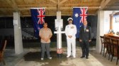 Dawn service ADF compound - Kiribati