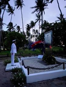 Wreath laying - Coastwatchers Memorial